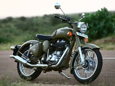 Royal Enfield. This is the bike of my dreams. Color and everything!