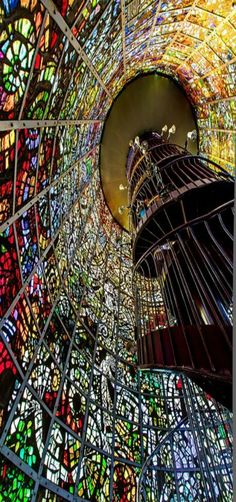 Symphonic Sculpture,Art Museum Hakone-machi, Kanagawa,Japan I have been here and it is beautiful! It's at the open air museum in hakone! Kamakura, Stained Glass Art, Stained Glass Windows, Beautiful World, Beautiful Places, Art Du Monde, Beautiful Buildings, Amazing Architecture, Wonders Of The World