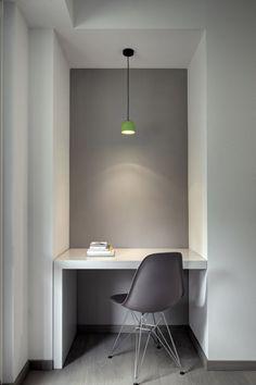 grey office green lamp