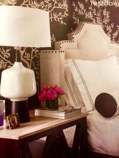 Design ideas (mirror nightstand with marble top)