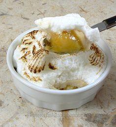 Bananes meringuées en ramequin - Brésil Mashed Potatoes, Oatmeal, Ice Cream, Breakfast, Ethnic Recipes, Desserts, Food, Colombian Cuisine, Brazilian Cuisine