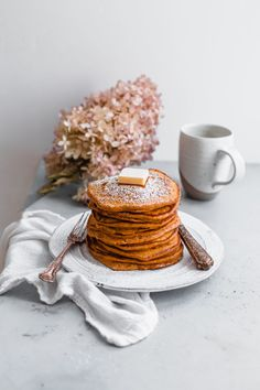 Pumpkin Souffle Pancakes. These lightly spiced pumpkin pancakes get their fluffy texture from the addition of whipped egg whites. A family favorite for years!