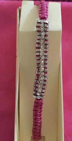 Shashi Beaded Stud Rhinestone Pink Nugget Slide Bracelet. New ANTHROPOLOGIE $50  | eBay