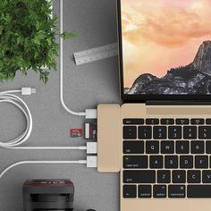 Satechi Type-C Pass Through USB Hub with USB-C Charging Port -  . http://mtr.li/1Xs9HXl