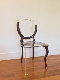 As part of her ongoing series titled My Old New Chair, visual artist Tatiane Freitas repairs broken wood furniture by replacing the missing pieces with translucent acrylic. Much like the Japanese practice of kintsugi or medieval parchment repair, her designs restore functionality to the chairs while
