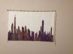 Chicago cityscape/Woven wall hanging/Wall by LaleShopNiki on Etsy