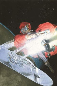 Thor vs Silver Surfer by Esad Ribic *