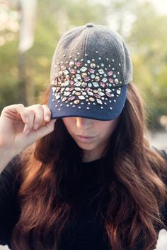 Jewel-Embellished Baseball Hat  If you're in the mood for bedazzling, this is the ultimate in sparkle power. Sit yourself down in front of the TV, and start gluing on those jewels.