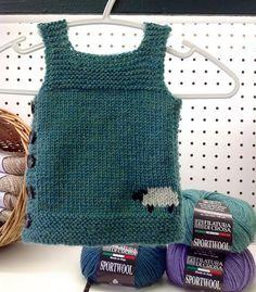 Pebble (Henry's Manly Cobblestone-Inspired Baby Vest) pattern by Nikol Lohr Baby Boy Vest, Kids Vest, Knitted Baby Clothes, Knitted Hats, Knit Vest Pattern, Baby Knitting Patterns, Knitting Projects, Crochet Top, Baby Patterns