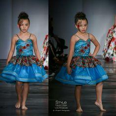 Loren Franco Designs Springs/Summer 2016 - turquoise organza dress