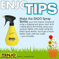 ENJO Spray Bottle is the perfect thing to when you just need a little bit of water. Green Cleaning, Cleaning Hacks, Cleaning Supplies, Chemical Free Cleaning, Clean Pores, Clean Freak, Natural Cleaning Products, Spray Bottle, Water