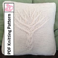 ************* This listing is for a knitting pattern only *************** ************ This pattern is only available in English **************** The classic shape of a tree lends itself so well to the incorporation of knit cables into a curving trunk and branches. There are many