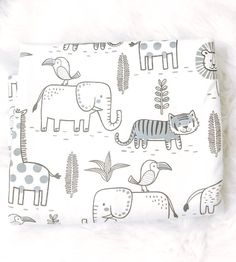Safari Swaddle Security Baby Blanket, Black and White, Animal Print, Liam's Blankie by LittleLiamDesigns on Etsy Baby Gift Sets, Baby Girl Gifts, Hospital Bag For Mom To Be, Boppy Pillow Cover, Flannel Baby Blankets, Baby Room Themes, Gifts For New Dads, Newborn Photography Props, Security Blanket