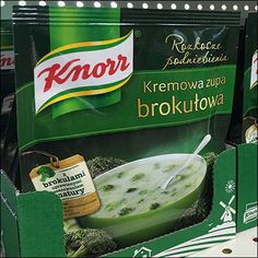 Knorr Ethnic Soup Packet Merchandising Importance Of Food, Candy Display, Retail Merchandising, Packaging Design, Ethnic, Soup, Cooking, Green, Color
