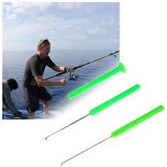 3 en 1 Combo Set Aparejos de Pesca de La Carpa Cebo Aguja Verde Kit Conjunto de Herramientas de Pescado Aparejo de Perforación Kit de Herramientas Con La Bolsa