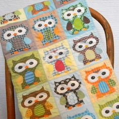 Owl Quilt!!! Bah! If I could make this...I would!  @Leigh-Anne Tucker