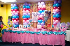 Abby Cadabby Party Decorations-Parties are of interchange types and due to their diversified nature, stand-in types of decorations are required. 2nd Birthday Party Themes, Baby Girl 1st Birthday, Fairy Birthday Party, Elmo Party, Elmo Birthday, Birthday Ideas, Sesame Street Party, Sesame Street Birthday, Abby Cadabby