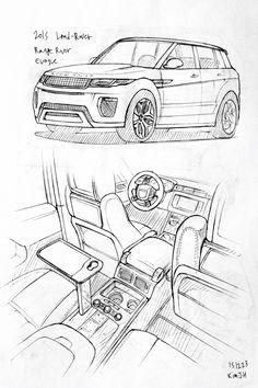 Car drawing 151223 2015 Land-Rover Range rover Evoque.  Prisma on paper.  Kim.J.H