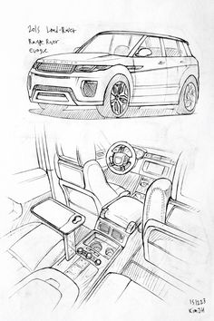 Car drawing 151223 2015 Land-Rover Range rover Evoque.  Prisma on paper.  Kim.J.H