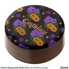Sink your teeth into a Masquerade cookie from Zazzle. Choose from chocolate covered Oreo, shortbread, or sugar cookies! Chocolate Dipped Oreos, Halloween Party Supplies, Party Hacks, Oreo Pops, Masquerade Masks, Cookie Gifts, Oreo Cookies, Confectionery, Corn Syrup