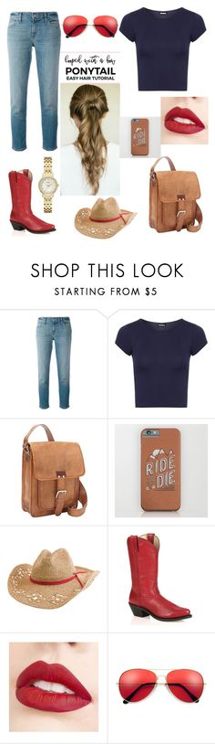"""""""Ride or die country girl"""" by brianna-goodwin ❤ liked on Polyvore featuring J Brand, WearAll, SHARO, Quiksilver, Durango, Jouer, Kate Spade and country"""