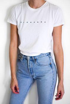 epic levi's 501 vintage jeans with white tee; Celebrity Jeans, Vintage Jeans, My Favorite Part, White Tees, Comebacks, Mom Jeans, Popular, Denim, Satchels