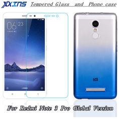 Xxins Transparent Gradient Blue Cases For Xiaomi Redmi Note 3 Pro SE Special Edition Official Global Version Phone kate