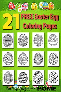 21 Easter Egg Coloring Pages for Kids