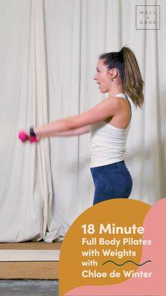pilates workout Pilates Workout, Workouts, Hand Weights, Full Body, Burns, Routine, Wellness, Hands, Yoga