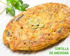 tortilla de anchoas - fácil Spanish Kitchen, Tortillas, Tapas, Pizza, Eggs, Dinner, Ethnic Recipes, Food, Avocado Salad