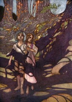 Charles Robinson, Hansel and Gretel as told in The Big Book of Fairy Tales ~ Hansel and Grethel in the Forest (1911)