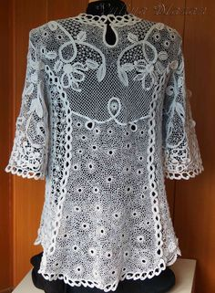 Irish Crochet lace top