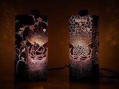 These cool lights made from old cartons and boxes: I think I'm in love.