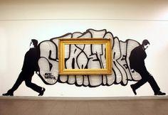 elevating street art to high art and to the masses Street Art Love, Best Street Art, Tag Art, Graffiti Art, Deco Originale, Stencil Art, Art For Art Sake, Street Artists, Art Plastique