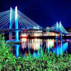 Gorgeous photo of Portland's newest bridge, Tilikum Crossing, scheduled to open in the Fall, 2015. Portland, Oregon. / repinned by Neighborly Portland & Jill Scheintal