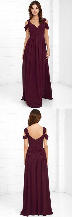2018 burgundy long prom dress, simply long prom dress graduation dress