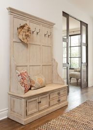 DIY Do-able: Windsor Hall Tree Storage Bench for entry way