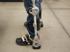 Fortis Exoskeleton by Lockheed Martin.  Note the connection to the ground at the heel and the knee.