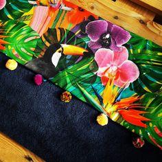 Exotic tukan beach towel