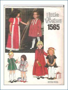 Vogue 1565 A - Vintage Sewing Patterns