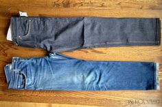 Before and After of the raw denim fade process! Read our blog to find out more about raw denim!