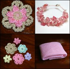 Free Crochet Patterns Are Available for Thee Flowers, Baby Blanket, Bracelet and Much More!
