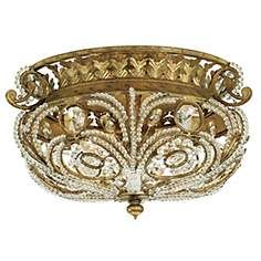 "Quoizel La Crysta 18"" Wide Ceiling Light Fixture"