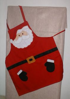 Navidad by lessie Christmas Aprons, Christmas Sewing, Christmas Love, Christmas Projects, Sewing Aprons, Sewing Clothes, Denim Aprons, Sewing Crafts, Sewing Projects