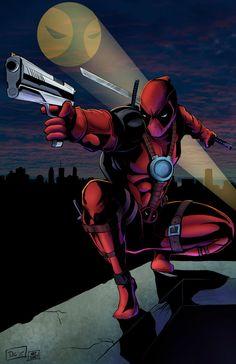 #Deadpool #Fan #Art. (Deadpool Rooftop) By: MattJamesComicArts. (THE * 5 * STÅR * ÅWARD * OF: * AW YEAH, IT'S MAJOR ÅWESOMENESS!!!™)[THANK U 4 PINNING!!!<·><]<©>ÅÅÅ+(OB4E)