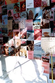 Our first ever half-sized kit comes with 75 full- page prints full of dreamy hues and ethereal images . Cute Room Ideas, Cute Room Decor, Teen Room Decor, Picture Room Decor, Tumblr Room Decor, Photo Room, Room Wall Decor, Bedroom Wall Collage, Photo Wall Collage