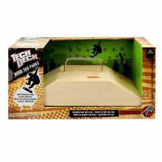 Tech Deck Wood Ramps - Fun Box Rail by Tech Deck. $19.99. From the Manufacturer                Ride these all-wood ramps for an ultra-premium look and feel. Constructed for durability and authenticity, this is a must have for the elite fingerboarder who loves the best obstacles. You can shred it up with the kicker box and rail, or go technical on the mini ramp. You won't find better quality than this. Tech Deck brings you the real deal with all-wood constructio...