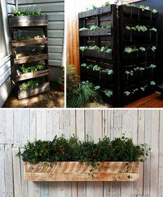 Europaletten recyceln – DIY Möbel aus Holzpaletten - Europaletten recyceln garten möbel holz kasten pflanzen