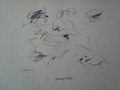 Vaszary János (1867 - 1939) Litográfia. Mihály Gyűjtemény