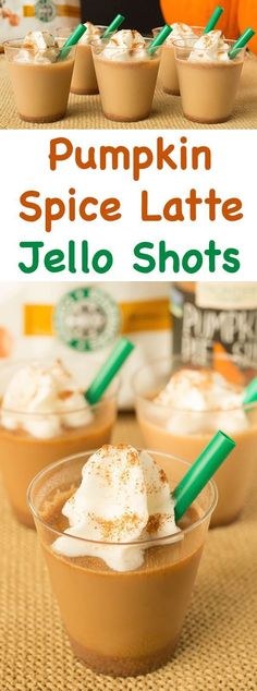Learn how to make pumpkin spice latte jello shots. Creative Fall cocktail for Thanksgiving or Halloween party. Learn how to make pumpkin spice latte jello shots. Creative Fall cocktail for Thanksgiving or Halloween party. Christmas Jello Shots, Halloween Jello Shots, Halloween Cocktails, Halloween Party, Thanksgiving Cocktails, Fall Cocktails, Fall Drinks, Party Drinks, Party Shots